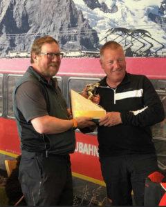 Heinz Getting His Trophy