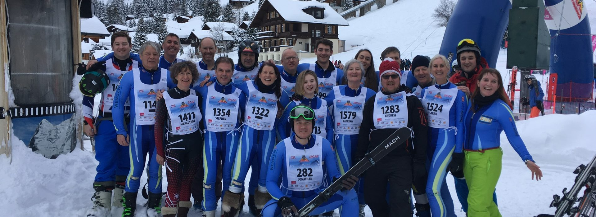 And the team, most of us waiting to start. Jonathan already down. Picture